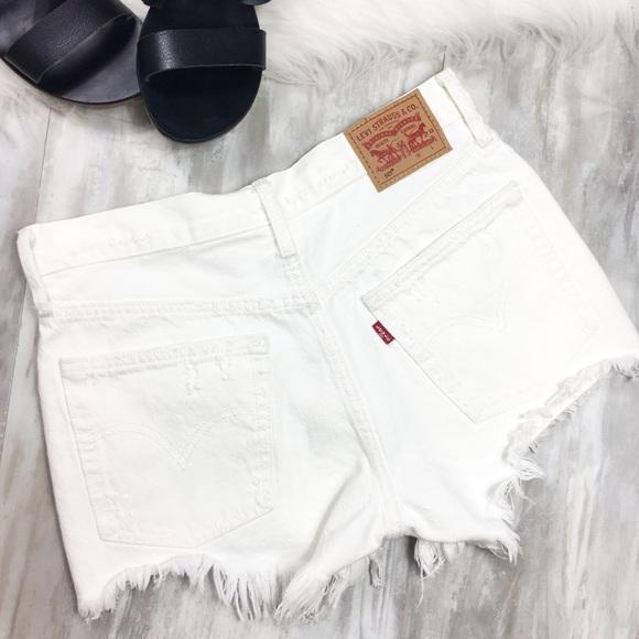 ba985cc8 Levi's Shorts | Levis 501 Cutoff White High Rise Denim | Poshmark